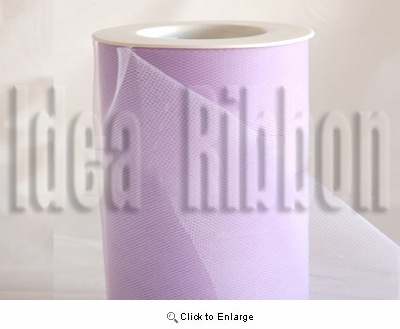 """6""""x300 FT French Lilac Lavender Soft wedding tulle"""
