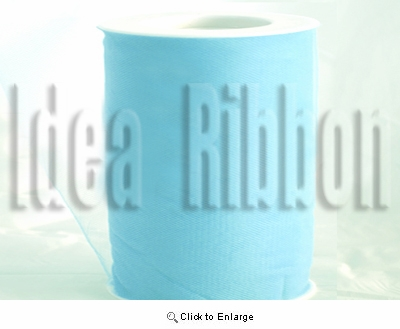 "6""x300 FT Sky Blue Soft wedding tulle"