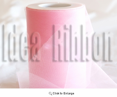 "6""x300 FT Pink Soft wedding tulle"