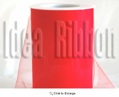 """6""""x300 FT Red Soft wedding tulle"""