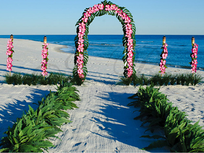White Wedding Ceremony Arch Made Of Steel Easy To