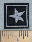 1 Star - Gray - Embroidery Patch
