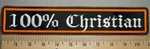 2407 L - 100 % Christian - Straight Rocker - Embroidery Patch