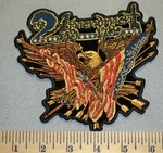 2nd Amendment -Eagle with American Flag,Arrows and Two Shot Guns - Embroidery Patch
