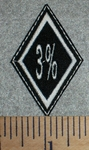 3% Diamond  - Embroidery Patch