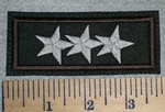 2655 L - 3 Stars - Embroidery Patch