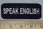 3568 W - SPEAK ENGLISH - Embroidery Patch