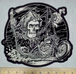3585 G - Grim Reaper Rider - Back Patch - Embroidery Patch