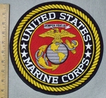 3587 W - United States Marine Corps - Round - Back Patch - Embroidery Patch