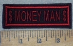 3603 L - $ Money Man $ - Red - Embroidery Patch