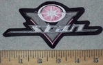3609 L - Yamaha V - Star Logo - Pink - Embroidery Patch