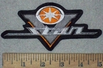 3611 L -  Yamaha V - Star Logo - Orange - Embroidery Patch