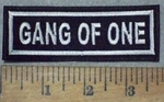 3632 L - Gang Of One - Embroidery Patch