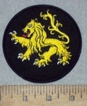 3652 W - Lion Of Judah - Round - Embroidery Patch