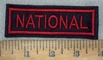 3655 L - National - Red - Embroidery Patch