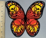 3807 G - Monarchy Butterfly With Skull Face In Wings - Back Patch -  Embroidery Patch