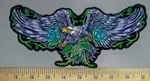 3808 G - Eagle With Purple Wings - Back Patch - Embroidery Patch