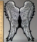3812 G - Feathered Angel Wings - Back Patch - Embroidery Patch