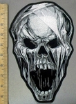 3823 G - Screaming Skull Face - Back Patch - Embroidery Patch