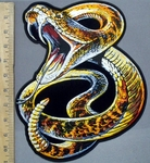3905 G - Rattlesnake - Back Patch - Embroidery Patch