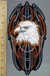 3906 G - Bald Eagle With Celtic Design - Back Patch - Embroidery Patch