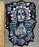 3907 G - Santa Muerte - Back Patch - Embroidery Patch