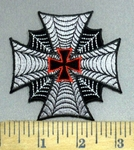3918 N - Webbed Chopper - Iron Cross Logo - Embroidery Patch