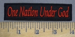 3940 W - ONE Nation Under GOD - Embroidery PAtch