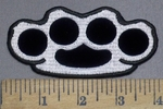 3960 G - Brass Knuckles - Embroidery Patch