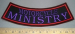 4035 L - Motorcycle Ministry - Bottom Rocker - Embroidery Patch