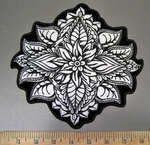 4045 G -Decorative Henna Flower - Back Patch - Embroidery Patch