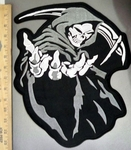 4046 C - Grim Reaper With Scythe- Large Back Patch - Embroidery Patch