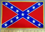 4052 W - Confederate Flag #1 - 11 Inch - Back Patch - Embroidery Patch