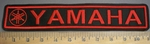 4081 L - Yamaha With Logo - Red - Embroidery Patch