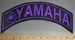 4082 l- Yamaha With Logo - Top Rocker - Purple - Embroidery Patch