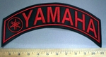 4084 L - Yamaha With Logo - Top Rocker - Red - Embroidery Patch