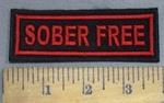 4094 L - Sober Free- Red - Embroidery Patch
