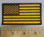4123 S - Orange And Black Flag - Embroidery Patch
