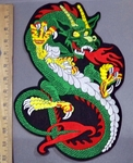 4134 S - Dragon - Back Patch - Embroidery Patch