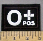 4294 L - Blood Type O+ POS - Embroidery Patch