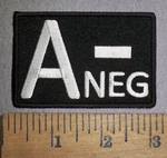 4300 CP - Blood Type - A- NEG - Embroidery Patch