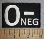 4301 CP - Blood Type O-NEG - Embroidery Patch