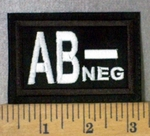 4302 L - Blood Type - AB- NEG - Embroidery Patch