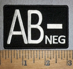 4302 CP - Blood Type - AB- NEG - Embroidery Patch