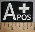 4305 CP - Blood Type - A+ POS - Embroidery Patch