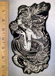 4378 G - Rhinestone Bling - Fairy Lady With Roses - Back Patch - Embroidery patch