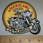 4416 CP -  Classic Motorcycle - American Biker - Made In The USA - Embroidery Patch