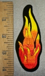 4402 S - Xtra Small - Flame Of Fire - Embroidery Patch