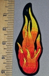 4419 S - Medium Size Flame - Embroidery Patch