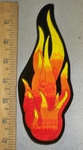 4420 S - Lg - Flame Of Fire - Vertical - Embroidery Patch